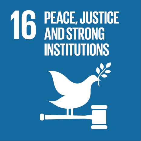 Sustainable development goal #16: Peace, justice and strong institutions
